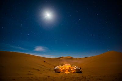 Moon over Merzouga