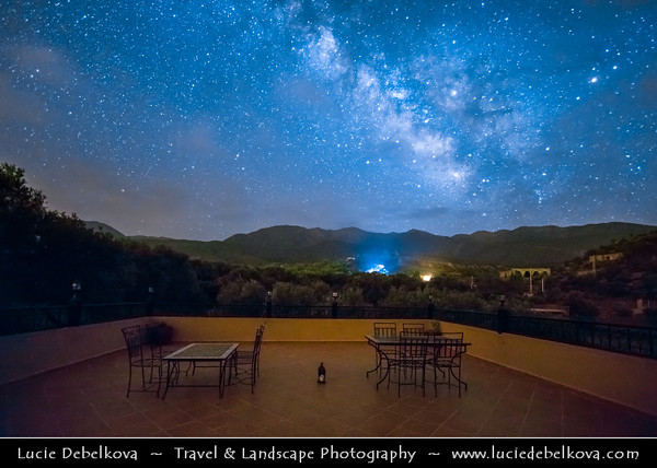 Northern Africa - Kingdom of Morocco - High Atlas Mountains - Starry Night Sky with Milky Way