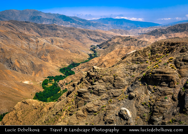 Northern Africa - Kingdom of Morocco - High Atlas Mountains - Tizi n'Tichka - Mountain pass linking south-east of Marrakesh to city of Ouarzazate, between great Marrakech Plains & gateway of Sahara Desert