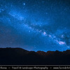 Northern Africa - Kingdom of Morocco - High Atlas Mountains - Tizi N'Tacheddirt - Traditional mountain village at 2500m altitude - Starry Night Sky with Milky Way