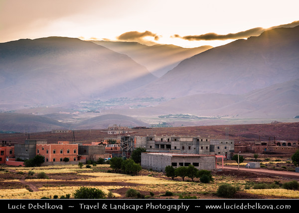Northern Africa - Kingdom of Morocco - High Atlas Mountains - Telouet - Trading village along former caravan route from Sahara over Atlas Mountains to Marrakech at elevation of 1,800 metres (5,900 ft)