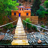 Northern Africa - Kingdom of Morocco - High Atlas Mountains - Ourika Valley - Setti Fatma - Sti Fadma - Traditional small village along Ourika river with many local restaurants