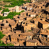 Northern Africa - Kingdom of Morocco - High Atlas Mountains - Toubkal National Park - Tizi N'Tacheddirt - Tachdirt - Traditional mountain village with mud brick houses at 2500m altitude, highest settlement in Rhirhaia valley