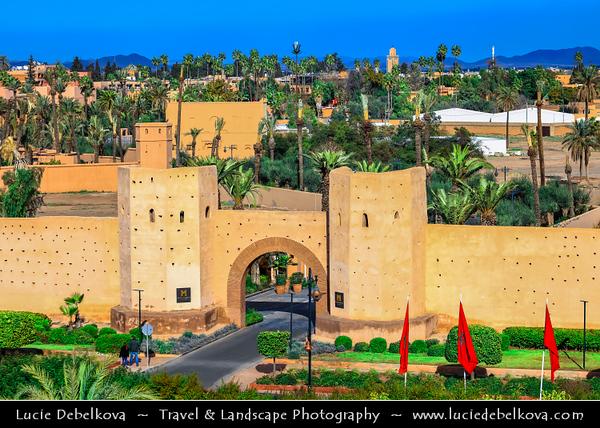 Africa - Morocco - Marrakesh - Marrakech - UNESCO World Heritage Site - Old Town - Medina of Marrakesh - Historical center - Historical City Walls