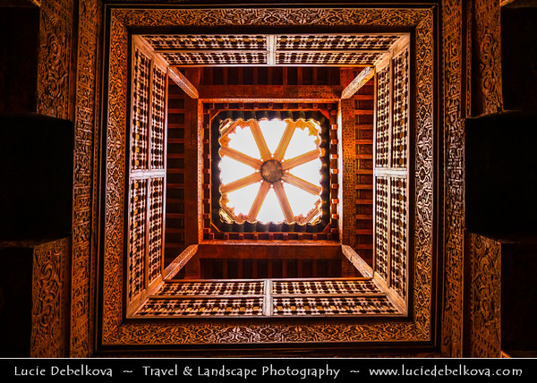 Africa - Morocco - Marrakesh - Marrakech - UNESCO World Heritage Site - Old Town - Medina of Marrakesh - Historical center - Medersa Ben Youssef - Medrassa Bin Yousuf - Ben Youssef Madrasa - Ibn Yusuf Madrasa - Islamic college in Marrakech and was named after the amoravid sultan Ali ibn Yusuf