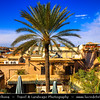 Northern Africa - Kingdom of Morocco - Marrakesh - Marrakech - UNESCO World Heritage Site - Old Town - Medina of Marrakesh - Rooftops of historical center