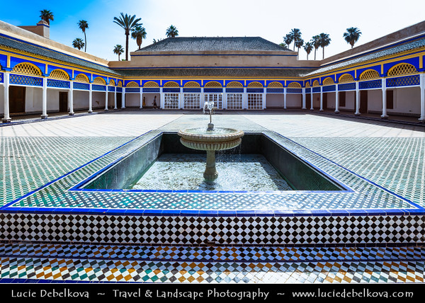 Northern Africa - Kingdom of Morocco - Marrakesh - Marrakech - UNESCO World Heritage Site - Old Town - Medina of Marrakesh - Historical center - Palais Bahia - Bahia Palace - Stunning palace and magical set of gardens built in late 19th century, intended to be the greatest palace of its time