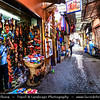 Northern Africa - Kingdom of Morocco - Marrakesh - Marrakech - UNESCO World Heritage Site - Old Town - Medina of Marrakesh - Historical center - Traditional street with local shops