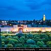 Africa - Morocco - Marrakesh - Marrakech - UNESCO World Heritage Site - Old Town - Medina of Marrakesh - Historical center - Historical City Walls & Mosquée de la Koutoubia - Koutoubia Mosque - Kutubiyya Mosque - Jami' al-Kutubiyah - Kotoubia Mosque - Kutubiya Mosque - Kutubiyyin Mosque - Mosque of the Booksellers - Largest mosque in Marrakesh
