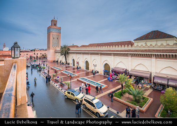 Africa - Morocco - Marrakesh - Marrakech - UNESCO World Heritage Site - Old Town - Medina of Marrakesh - Historical center - Moulay El Yazid Mosque - La mosquée Moulay Al Yazid - Masjid Mawlay al-Yazid