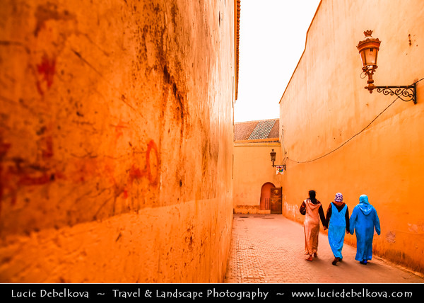 Africa - Morocco - Marrakesh - Marrakech - UNESCO World Heritage Site - Old Town - Medina of Marrakesh - Streets of Historical center