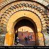 Africa - Morocco - Marrakesh - Marrakech - UNESCO World Heritage Site - Old Town - Medina of Marrakesh - Historical center - Bab Agnaou - Bab al Kohl - Bab al Qsar - باب اكناو - One of the nineteen gates of Marrakech built in the 12th century in the time of the Almohad dynasty