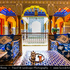 Northern Africa - Kingdom of Morocco - Marrakesh - Marrakech - UNESCO World Heritage Site - Old Town - Medina of Marrakesh - Historical center - Riad - Traditional Moroccan house with an interior garden or courtyard