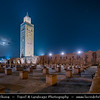 Africa - Morocco - Marrakesh - Marrakech - UNESCO World Heritage Site - Old Town - Medina of Marrakesh - Historical center - Mosquée de la Koutoubia - Koutoubia Mosque - Kutubiyya Mosque - Jami' al-Kutubiyah - Kotoubia Mosque - Kutubiya Mosque - Kutubiyyin Mosque - Mosque of the Booksellers - Largest mosque in Marrakesh