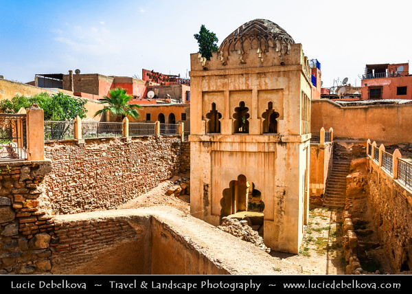 Northern Africa - Kingdom of Morocco - Marrakesh - Marrakech - UNESCO World Heritage Site - Old Town - Medina of Marrakesh - Historical center - View over city rooftops