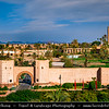 Africa - Morocco - Marrakesh - Marrakech - UNESCO World Heritage Site - Old Town - Medina of Marrakesh - Historical center - Historical City Walls & Mosquée de la Koutoubia - Koutoubia Mosque - Kutubiyya Mosque - Jami' al-Kutubiyah - Kotoubia Mosque - Kutubiya Mosque - Kutubiyyin Mosque - Mosque of the Booksellers - Largest mosque in Marrakesh