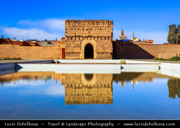 Northern Africa - Kingdom of Morocco - Marrakesh - Marrakech - UNESCO World Heritage Site - Old Town - Medina of Marrakesh - Historical center - Palais Badii - El Badi Palace - Ruined palace completed around 1593, well known tourist attraction