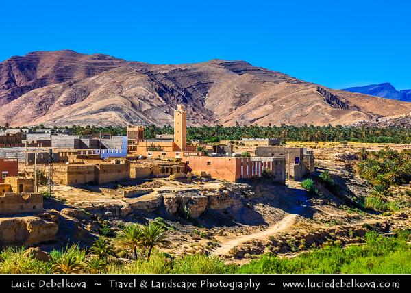 Northern Africa - Kingdom of Morocco - Souss-Massa Region - Tata Province - Tata - Traditional town situated on desert plain of Sahara Desert