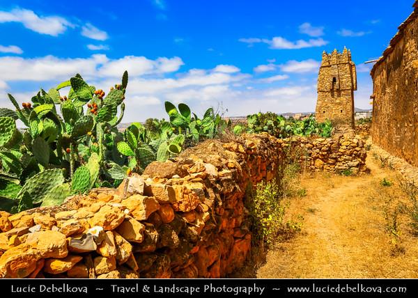 Northern Africa - Kingdom of Morocco - Souss-Massa Region - Chtouka Aït Baha Province - Agadir Ikounka - Traditions Berber Fortified Granary for storing food