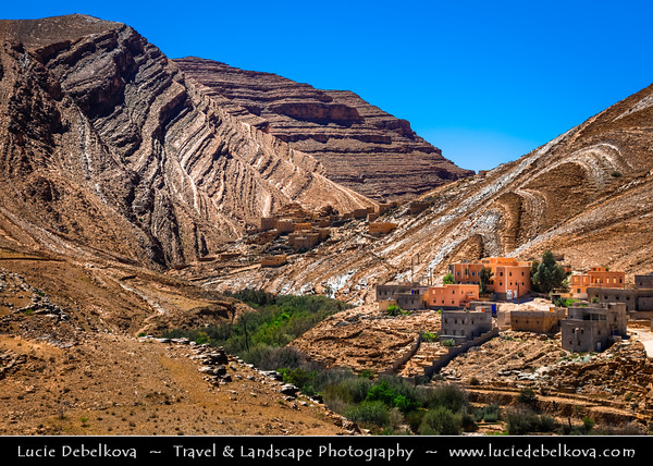 Northern Africa - Kingdom of Morocco - Souss-Massa Region - Tata Province - Stunning Anti-Atlas ( Lesser Atlas, Little Atlas) mountain landscape