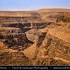 Northern Africa - Kingdom of Morocco - Souss-Massa Region - Stunning Anti-Atlas ( Lesser Atlas, Little Atlas) mountain landscape with dry & desolate terrain
