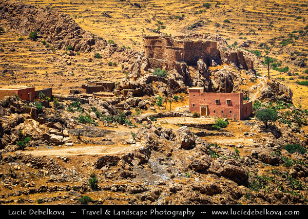 Northern Africa - Kingdom of Morocco - Souss-Massa Region - Chtouka Aït Baha Province - Agadir Amzouar along spectacular mountain road in Anti-Atlas (Lesser Atlas, Little Atlas) hilly landscape