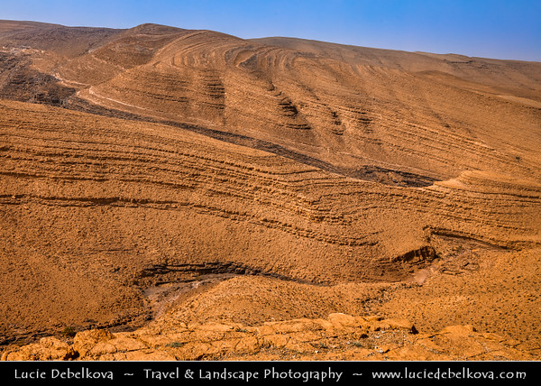 Northern Africa - Kingdom of Morocco - Souss-Massa Region - Stunning Anti-Atlas ( Lesser Atlas, Little Atlas) mountain landscape with dry & desolate terrain