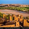 Northern Africa - Kingdom of Morocco - Souss-Massa-Drâa - Aït Benhaddou - Ksar of Ait-Ben-Haddou - Ath Benhadu - UNESCO World Heritage Site - Fortified mudbrick kasbah - city along former caravan route between Sahara & Marrakech along Ounila River valley