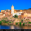 Africa - Morocco - Souss-Massa Region - Ait Baha - Red houses towns in Anti Atlas area