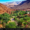 Northern Africa - Kingdom of Morocco - Souss-Massa-Drâa - Ounila valley - La vallée de l'Assif (oued) Ounila - Valley of Ancient Kasbah's & Ksars - Former caravan route from Sahara over Atlas Mountains to Marrakech