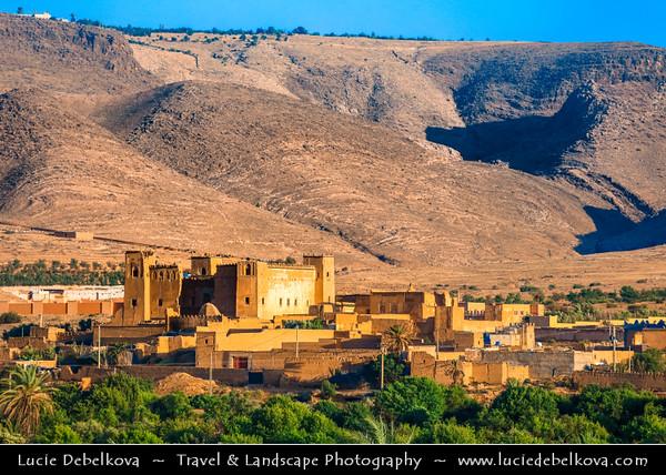 Northern Africa - Kingdom of Morocco - Souss-Massa-Drâa - Taroudant Province - Taliouine - Glaoui Kasbah - Impressive historical fortress (citadel)