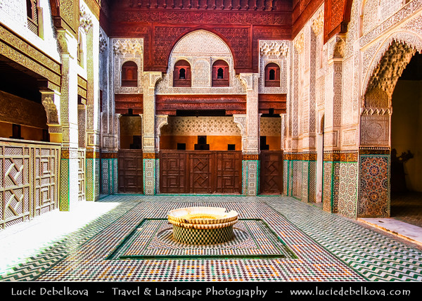 Africa - Morocco - Meknes - Mknas - Meknas - UNESCO World Heritage Site - Old Medina - Historic City of Meknes in Spanish-Moorish style surrounded by high walls