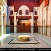 Africa - Morocco - Meknes - Mknas - Meknas - UNESCO World Heritage Site - Old Medina - Historic City of Meknes in Spanish-Moorish style surrounded by high walls