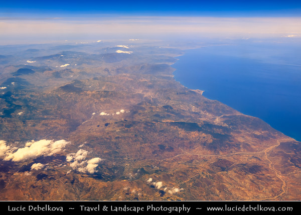 Northern Africa - Kingdom of Morocco - North Coast along Mediterranean sea - Aerial View
