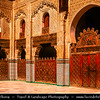 Africa - Morocco - Fes - Fez - UNESCO World Heritage Site - Imperial Historic City founded in 9th century - Home to the oldest university in the world - Old Medina with madrasas, fondouks, palaces, residences, mosques & fountains - Medersa Bou Inania - Exquisitely decorated old Muslim school