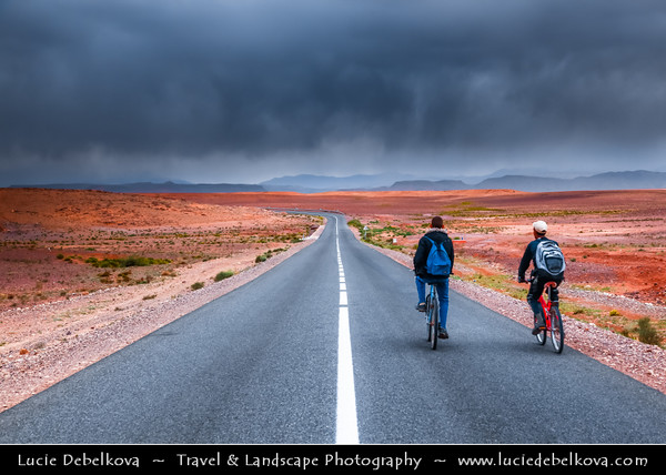 Africa - Morocco - Former caravan route between the Sahara and Marrakech