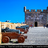 Africa - Morocco - Atlantic coast - Essaouira - UNESCO World Heritage Site - Old Medina - Historic center of charming coastal town with fortified walls & fishing harbour famous for its many blue boats