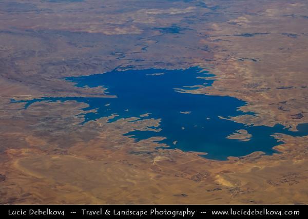 Northern Africa - Kingdom of Morocco - Al Massira Dam - Barrage Al Massira - Gravity dam & irrigation & industrial water dam completed in 1979