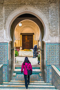 Entrance of Madrasa Bou Inania