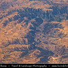 Northern Africa - Kingdom of Morocco - Aerial View over mountains and deep valleys