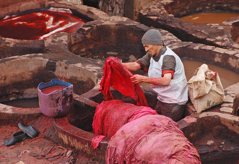 In the Dyeing Pits