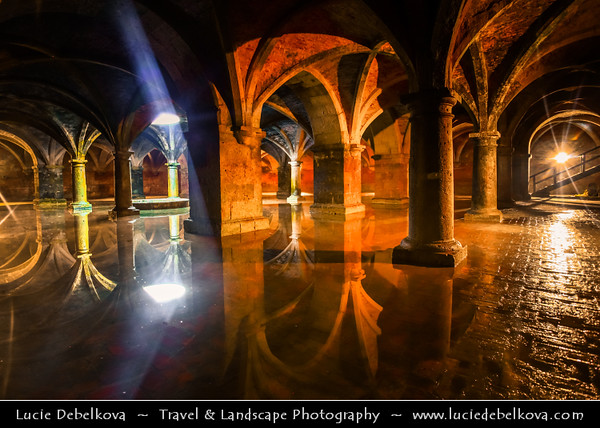 Africa - Morocco - Atlantic coast - El Jadida - UNESCO World Heritage Site - Old Medina of Portuguese City of Mazagan - Portuguese Cistern - Underground chamber measuring 34 meters by 34 meters, constructed with five rows of five stone pillars