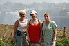 Isobel, Liz,Carol at Vic Falls, Zimbabwe