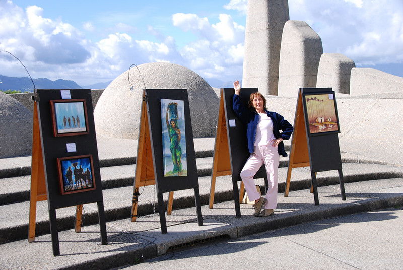 Works of Art at the Taal Monument near Paarl