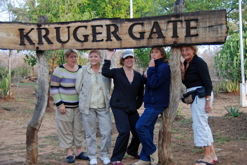 Barbara, Carole, Liz, Roz, Isobel at Kruger National Park