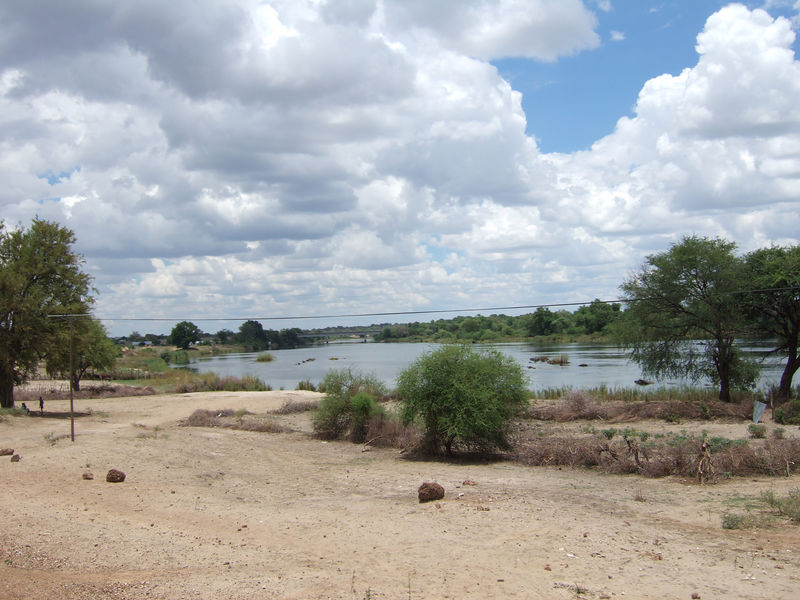 Okavango River - which is what flows into the delta