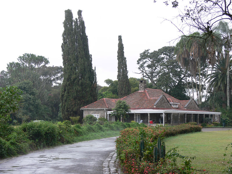 Karen Blixen's house (Out of Africa).  This part of Nairobi - where many of the weathly and expats live - is called Karen after her.  Much of her old coffee plantation is now the local country club.