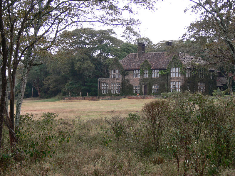 The house of the family who started the giraffe reserve on their farm years ago.  It is now the offices of the conservation group running the reserve.
