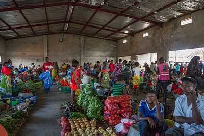 Local market in Lusaka