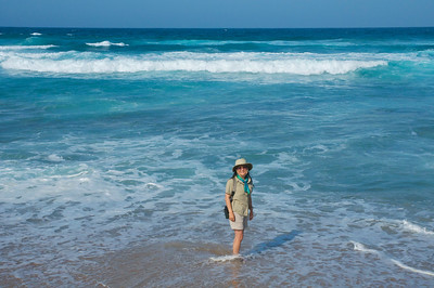 Dipping our feet in the Indian Ocean